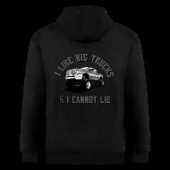 Zip Hoodies & Jackets ~ Men's Zip Hoodie ~ I like big trucks hoodie