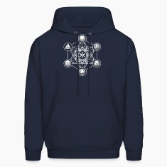 Metatrons Cube, Platonic Solids, Sacred Geometry Hoodies