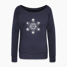 Metatrons Cube, Platonic Solids, Sacred Geometry Long Sleeve Shirts