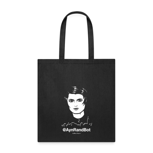 aynrandbot_tshirt_blank_bg - Tote Bag