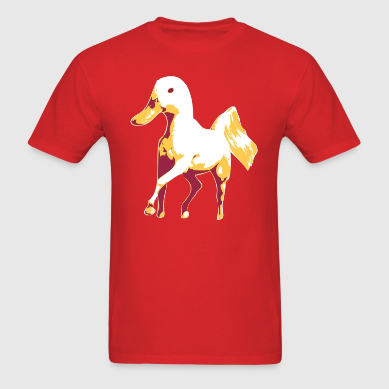 Horse with Duck Head T-Shirts - Men's T-Shirt