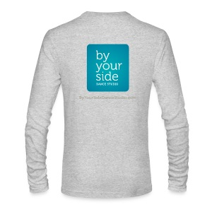 Men's Long Sleeve T-Shirt - By Your Side logo - Men's Long Sleeve T-Shirt by Next Level