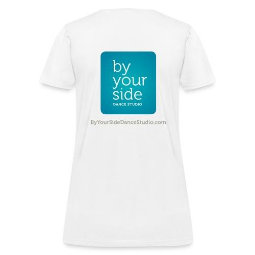 Women's Standard Weight T-shirt - By Your Side logo - Women's T-Shirt