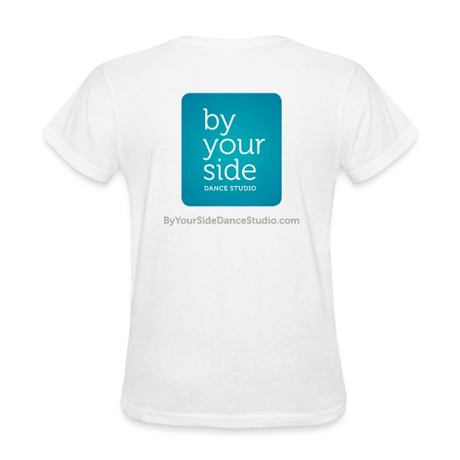 Women's Standard Weight T-shirt - By Your Side logo