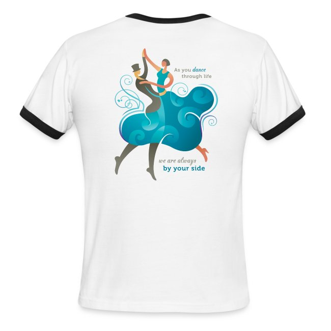 Men's Ringer T-Shirt - Two Dancers