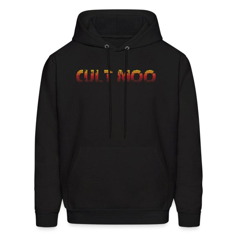 Cult Moo Retro Orange Logo Hoodie - Men's Hoodie