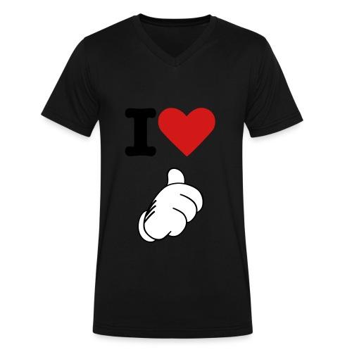 I love me - Men's V-Neck T-Shirt by Canvas