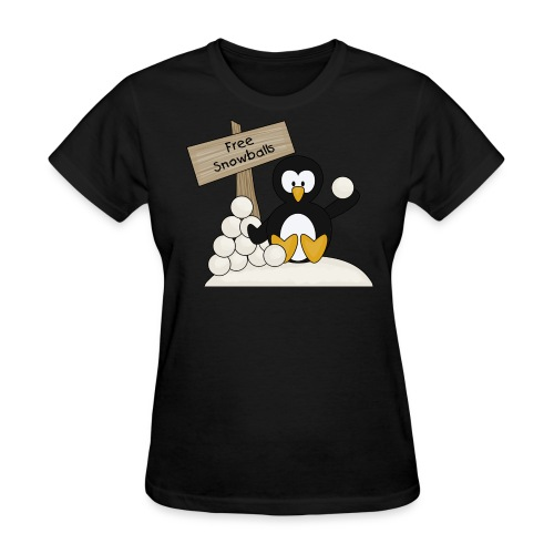 Penguin Snowballs - Women's T-Shirt