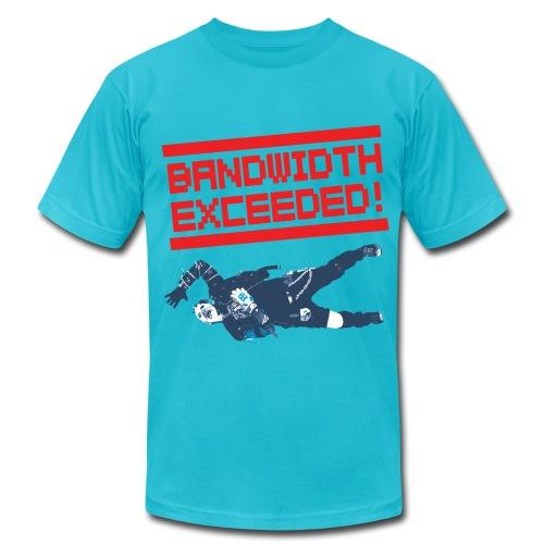 Vid Vicious 2.0 BANDWIDTH EXCEEDED T-Shirt by Dedderz - Men's Fine Jersey T-Shirt