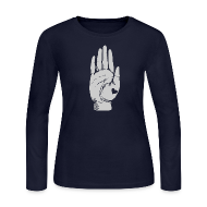 Long Sleeve Shirts ~ Women's Long Sleeve Jersey T-Shirt ~ Heart in Hand