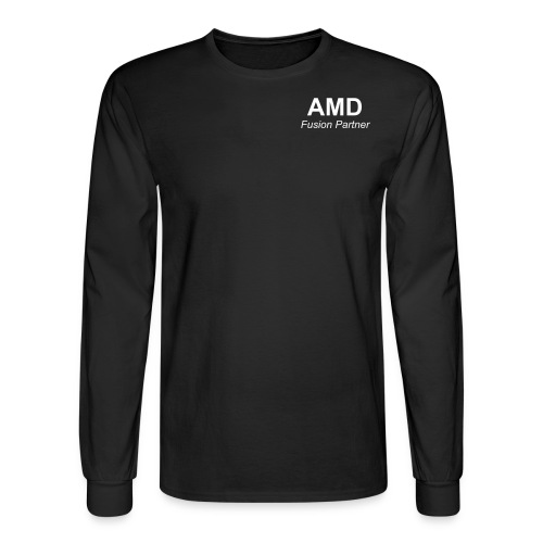 AMD Fusion Partner - Professional long sleeve black dress T - Men's Long Sleeve T-Shirt