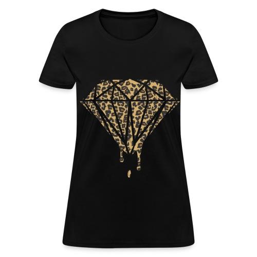 Ice Fitted Cheetah Diamond - Women's T-Shirt