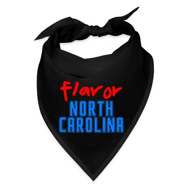 STATE YOUR FLAVOR BANDANA BLACK: NORTH CAROLINA