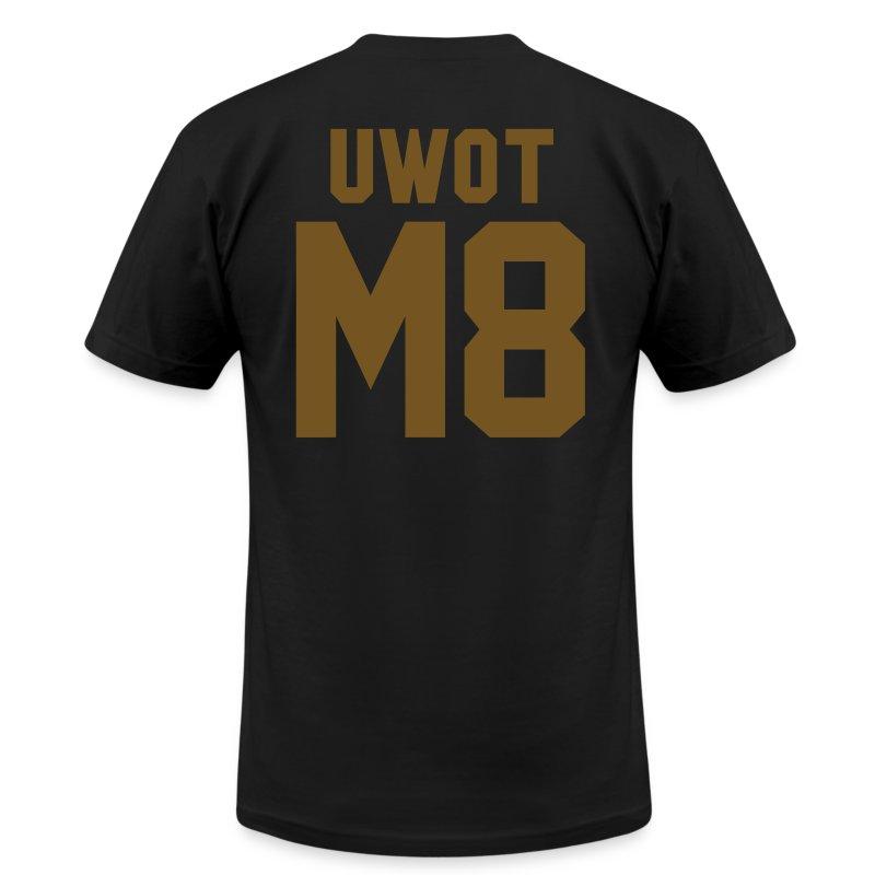 uwotm8 gold foil lettering aa t shirt t shirt fuccboi With gold foil lettering t shirt