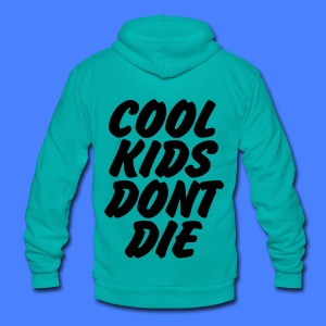 Cool Kids Don't Die Zip Hoodies & Jackets - Unisex Fleece Zip Hoodie by American Apparel