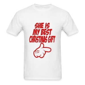 she is my best christmas gift_t-shirt - Men's T-Shirt