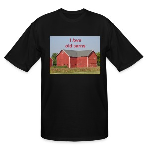 'I love old barns' Tall T - Men's Tall T-Shirt