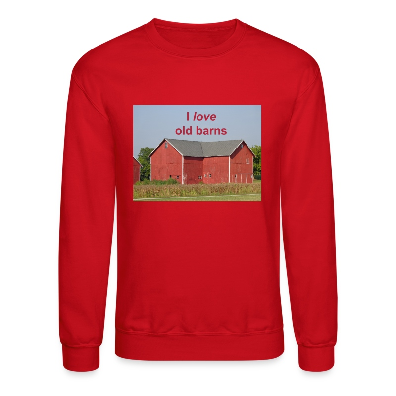 'I love old barns' Men's Quality Crew Neck - Crewneck Sweatshirt