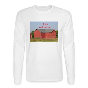'I love old barns' Men's long sleeved T - Men's Long Sleeve T-Shirt
