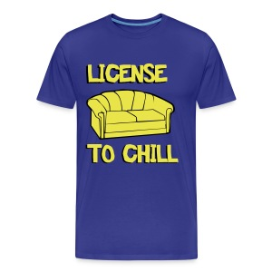 Cool T-shirt License to chill - Men's Premium T-Shirt