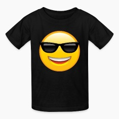 SMILEY FACE EMOTICON Kids' Shirts