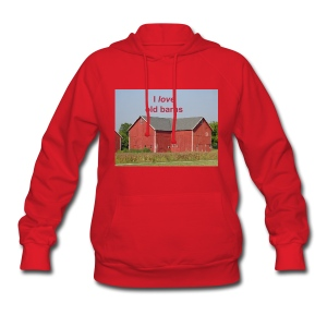 'I love old barns' Ladie's Hooded Sweatshirt - Women's Hoodie