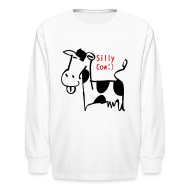 Kids' Shirts ~ Kids' Long Sleeve T-Shirt ~ silly cow