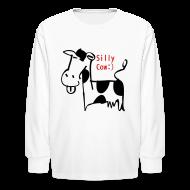 Kids' Shirts ~ Kids' Long Sleeve T-Shirt ~ silly cow