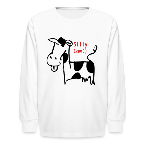 silly cow - Kids' Long Sleeve T-Shirt