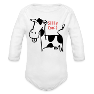 Baby & Toddler Shirts ~ Baby Long Sleeve One Piece ~ silly cow