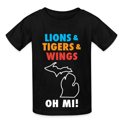 Lions & Tigers & Wings Oh MI! - Kids' T-Shirt