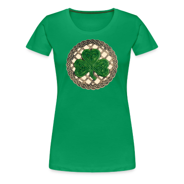 Beige Celtic Shamrock Shirt