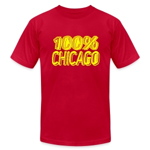 100% Chicago - Men's T-Shirt by American Apparel