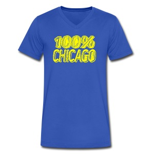 100% Chicago - Men's V-Neck T-Shirt by Canvas