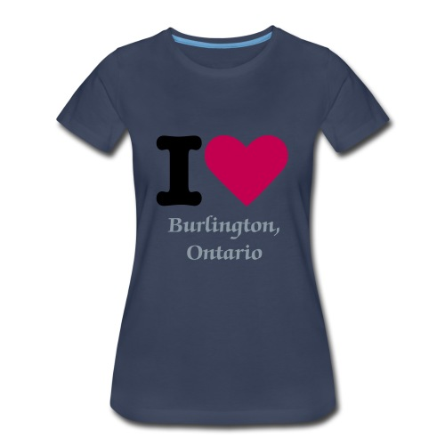 I love Burlington  Ladies T - Women's Premium T-Shirt