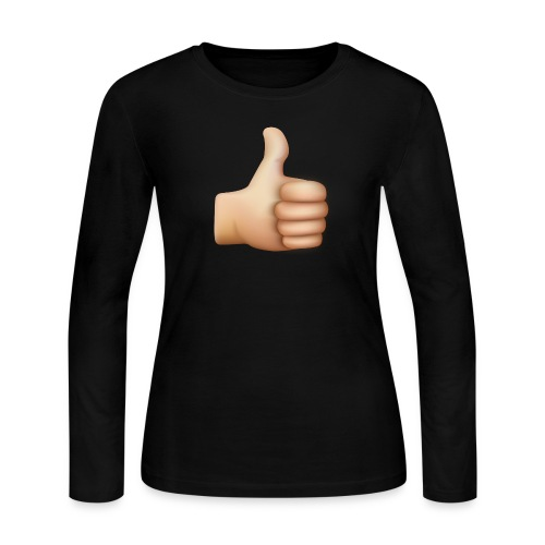 THUMBS UP EMOTICON - Women's Long Sleeve Jersey T-Shirt