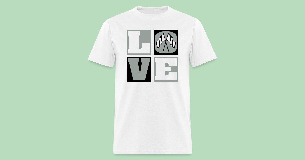 Gr82bnatural Tees Love Color Guard Mens Mens T Shirt