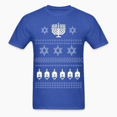 Happy Hanukkah Ugly Christmas Jewish Sweater T Shi