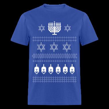 Happy Hanukkah Ugly Christmas Jewish Sweater T Shi