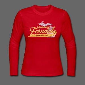 Fashionable Ferndale Michigan - Women's Long Sleeve Jersey T-Shirt