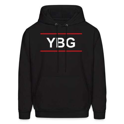 YBG Male Hoodie ( Front and Back Design) - Men's Hoodie