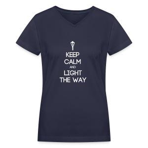 INFP ~ Keep Calm and Light the Way Women's V-Neck - Women's V-Neck T-Shirt
