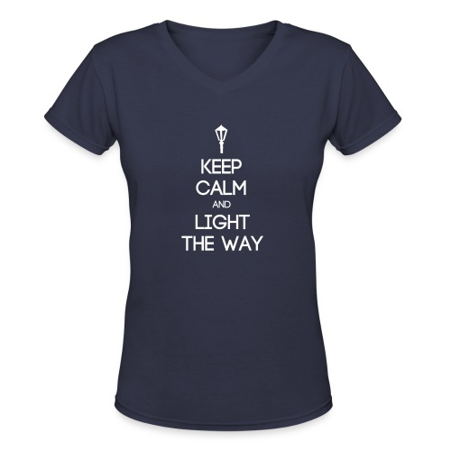 INFP ~ Keep Calm and Light the Way Women's V-Neck - Women's V-Neck T-Shirt
