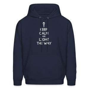 INFP ~ Keep Calm and Light the Way Men's Hoodie - Men's Hoodie