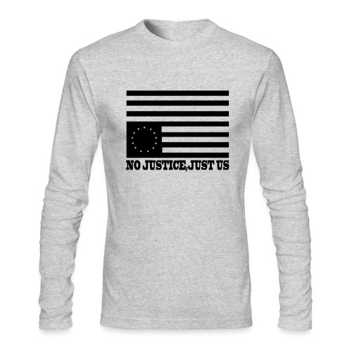 NO JUSTICE JUST US - Men's Long Sleeve T-Shirt by Next Level