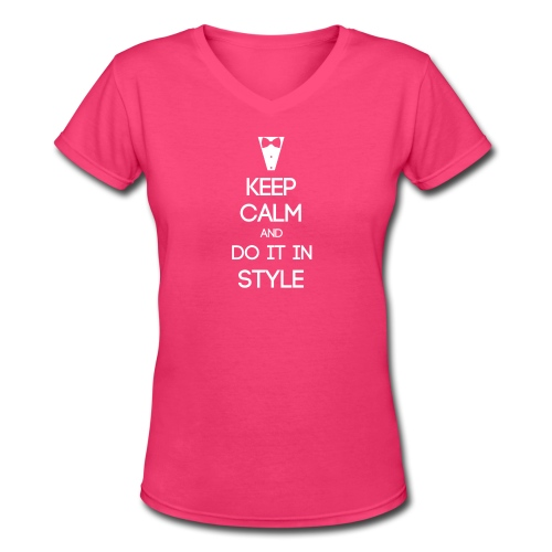 ESFJ ~ Keep Calm and Do It In Style Woman's V-Neck - Women's V-Neck T-Shirt