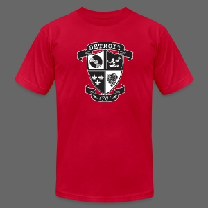 A Detroit Crest - Men's T-Shirt by American Apparel