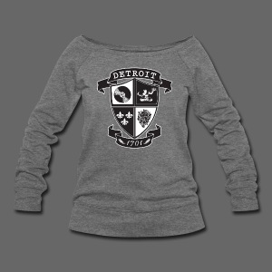 A Detroit Crest - Women's Wideneck Sweatshirt
