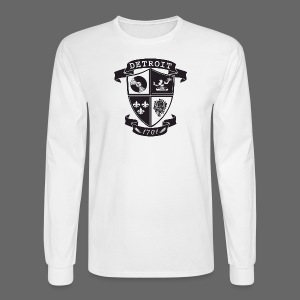A Detroit Crest - Men's Long Sleeve T-Shirt