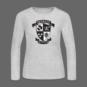 A Detroit Crest - Women's Long Sleeve Jersey T-Shirt